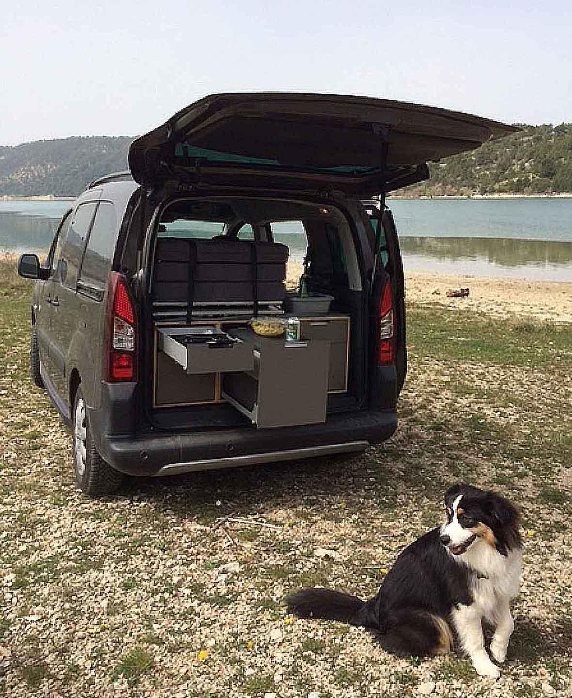 GX3 Camper Set – Heckküche im Peugeot Partner Tepee