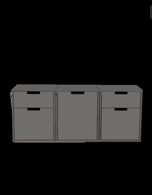 Modulare Heckkueche ohne Matratze für den VW T6.1 T6 T5